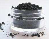 GRANITE Dark Gray Matte Mineral Eye Shadow: Natural Vegan Makeup Color; Small Size