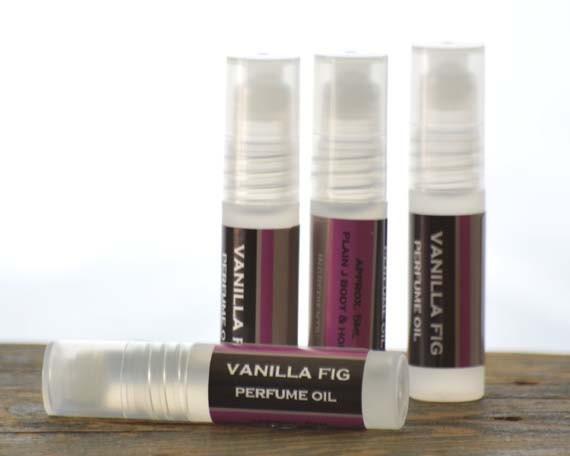 Vanilla Fig Perfume Oil Roll On - vanilla perfume - fig perfume - feminine perfume - fruity perfume - sweet perfume - musk perfume oil