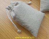 "20 pcs 5""x7"" Plain Cotton Linen Bags Drawstring Bags Soap Bags Fabric Bags"