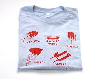 Men's Ice Cream Tshirt, Paleta Popsicle Helado Tee