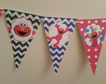 Elmo birthday banner