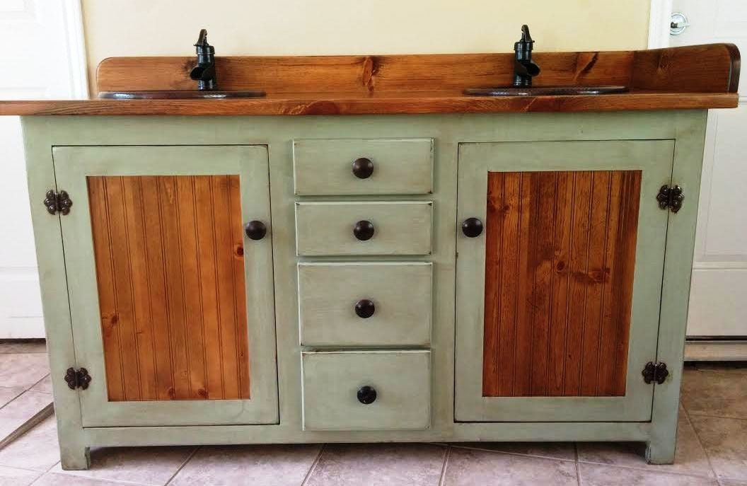 rustic pine bathroom vanity.  zoom Double Bathroom Vanity Rustic