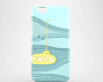 Yellow Submarine mobile phone case, iPhone 7, iPhone 7 Plus, iPhone SE, iPhone 6S/6, iPhone 5S/5 / illustration, The Beatles phone case
