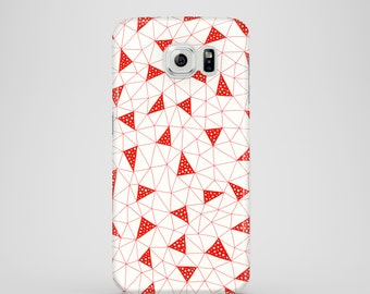 Red Triangles phone case / abstract Samsung Galaxy S7 case / Samsung Galaxy S6 Edge, Samsung Galaxy S6, Samsung Galaxy S5 / illustrated case