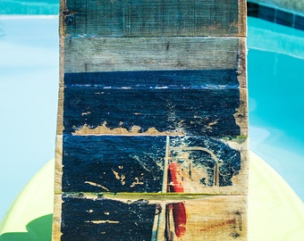 Watch Your Step - Boat Wake in the Caribbean on wood canvas