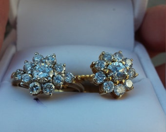 14k Gold Diamond Engagement Wedding Ring