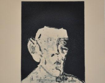 Original etching, Conversation with Established Expression