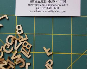 "Wooden Alphabet 162/Pkg Natural 0.51"" IN STOCK"