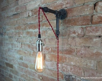 Industrial Sconce - Pendant Lamp - Hanging Edison - Industrial Furniture - Wall Light