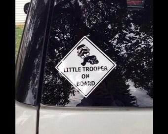 Star Wars Little Trooper on board decal
