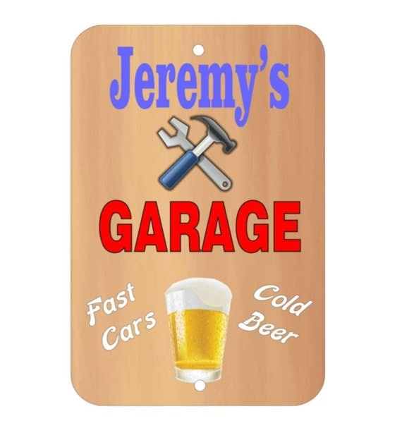 funny metal sign, garage sign, indoor/outdoor sign, driveway sign, parking sign, metal sign, custom sign, personalized sign, yard sign
