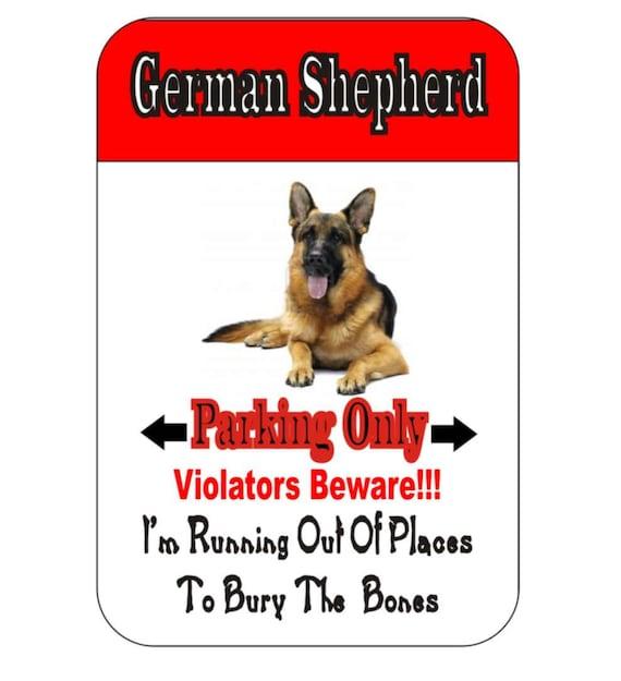 german shepherd sign, dog sign, funny metal sign, custom sign, driveway sign, yard sign, garage sign, indoor/outdoor sign,