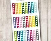 Rainbow 5 Dot To Do List Flags, Set of 24