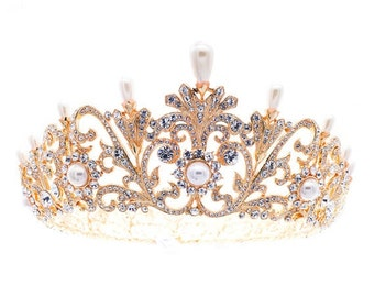 Royal Pearl Tiara Crown