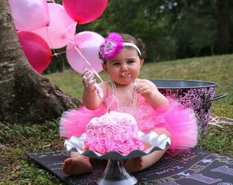 1st Birthday Tutu, Newborn Tutu, Toddler Tutu, Birthday Tutu Set, Birthday Tutu, Tutu, Tutu Set, Tutu and Headband, Hot Pink, Pink Tutu