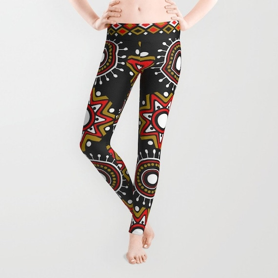 Ankara Clothing Print Leggings, Afrocentric Clothing  Ankara Fabric Design Leggings, African Wear, Colourful Leggings, African Shop Print