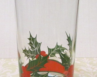 Vintage Holly and Berry Christmas  16oz by Libbey