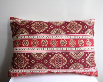 Traditional Turkish Kilim Pillow Cover , Red Kilim Pillow Case , Ethnic Kilim Pillow