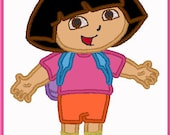 Cute Dora Full - Fan Art - DIY Applique Design For Embroidery Machines- Instant Download