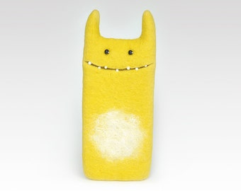 Monster Yellow case for iPhone 6, felt case,  handmade, Eco-friendly, best gift idea, Ready to ship