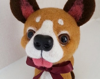 needle felted  puppy