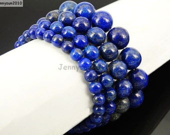 Natural Handmade Lapis Gemstone Size 6mm 8mm 10mm 12mm Round Beads Stretchy Bracelet Healing Jewelry Design and Crafts