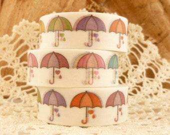 Colorful Umbrella Autumn Washi Tape- A1690