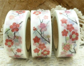 Pink Flowers, Cherry Blossoms Washi Tape - JJ1968