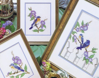 Bluebirds Of Happiness Cross Stitch Chart 3 Designs