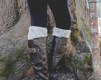 Cable Boot Cuffs, Two in One Design, Leg Warmers, Cabled Knit, Pinterest Favorite, Fall fashion, Slip on, Knit Accessory
