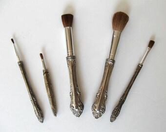 items similar to vintage makeup brushesgodinger silver