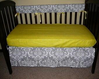 Bumperless Crib Set In Premier Prints Ozborne