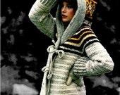 Vintage 70's Crochet Hooded Jacket PDF Pattern - Instant Download Pattern