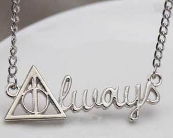 Harry Potter Always necklace Snape Deathly Hallows