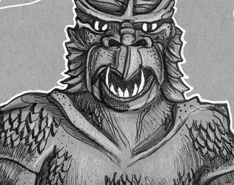 The Kraken, Ray HarryHausen, Tribute Fan Art, Clash of The Titans, Pen and Ink, Comic Art