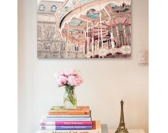 Paris Carousel Photography Print - Paris nursery - Framed Paris print