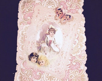 Antique 19th Century Valentine Card