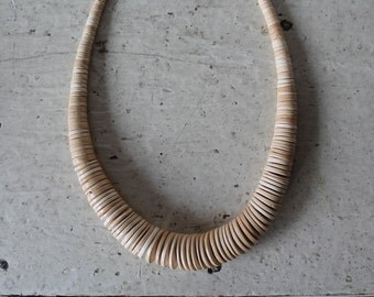 Tan disc necklace