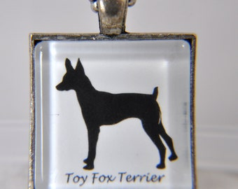 Toy Fox Terrier - Dog Breed Silhouette - Dog Silhouette Necklace - Dog Breed Necklace - Dog Breed Jewelry -Dog Breed Pendant