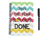 Planner 2015 / 2016  - The Year Sh it Gets Done - Chevron Monthly Daily Student Agenda Weekly College Motivational Mature