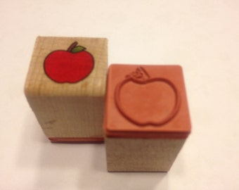 small apple rubber stamps, 15 mm (BB4/5)
