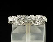 Fantastic leaves full eternity diamond ring