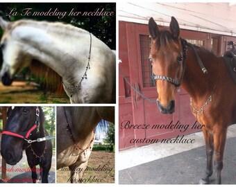 Horse Rhythm Beads Necklace/Mane Combo