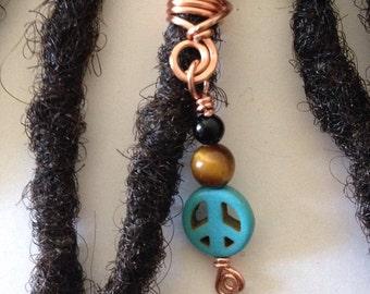 Onyx Tiger Eye Turquoise Hair Bead Dread Locs Dreadlock Jewelry