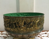 Made in England Rose Embossed Planter Claw Feet