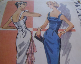 Vintage 1950's McCall's 3992 Dress Sewing Pattern, Size 12, Bust 32