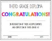 Third Grade. 3rd Grade. Diploma/Award