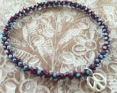 Stackable yoga charm multi chakra friendship bracelet