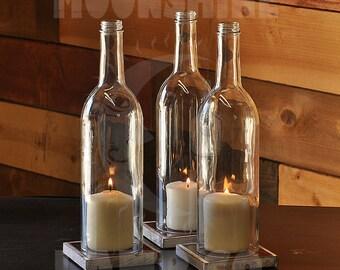 Cabernet Style Wine Bottle Candle Holder Centerpieces