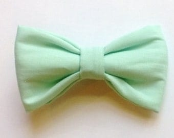 Bow tie seafoam color kids baby children bowties Brookes & Company
